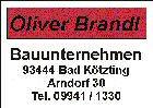 Oliver Brandl Bauunternehmen 09941/1330
